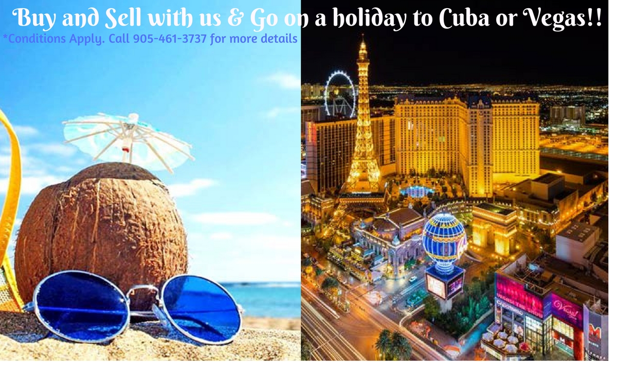 Win a Holiday to Cuba or Vegas!!
